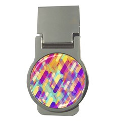 Colorful Abstract Background Money Clips (round)