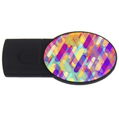 Colorful Abstract Background Usb Flash Drive Oval (2 Gb)