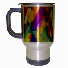 Colorful Abstract Background Travel Mug (silver Gray)
