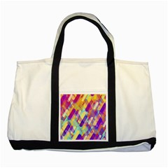 Colorful Abstract Background Two Tone Tote Bag