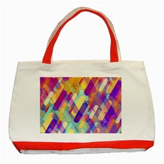 Colorful Abstract Background Classic Tote Bag (red)