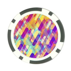 Colorful Abstract Background Poker Chip Card Guard