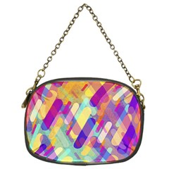 Colorful Abstract Background Chain Purses (two Sides)