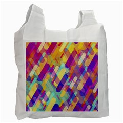 Colorful Abstract Background Recycle Bag (one Side)