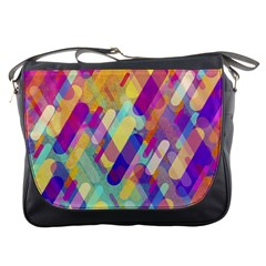Colorful Abstract Background Messenger Bags