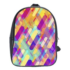 Colorful Abstract Background School Bag (xl)