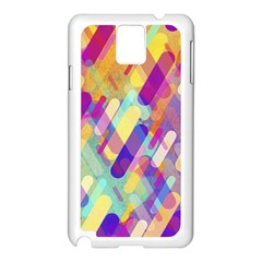 Colorful Abstract Background Samsung Galaxy Note 3 N9005 Case (white)