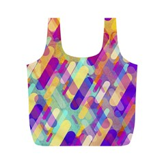 Colorful Abstract Background Full Print Recycle Bags (m)