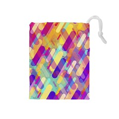 Colorful Abstract Background Drawstring Pouches (medium)