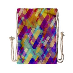 Colorful Abstract Background Drawstring Bag (small)
