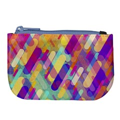 Colorful Abstract Background Large Coin Purse