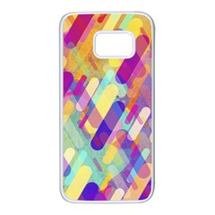 Colorful Abstract Background Samsung Galaxy S7 White Seamless Case
