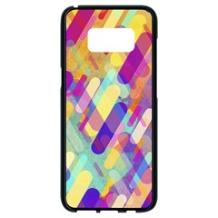Colorful Abstract Background Samsung Galaxy S8 Black Seamless Case