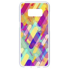 Colorful Abstract Background Samsung Galaxy S8 White Seamless Case
