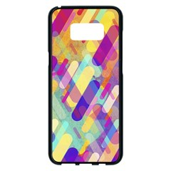 Colorful Abstract Background Samsung Galaxy S8 Plus Black Seamless Case