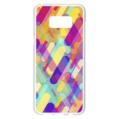 Colorful Abstract Background Samsung Galaxy S8 Plus White Seamless Case