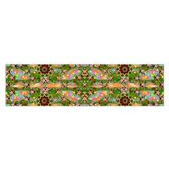 Star Shines On Earth For Peace In Colors Satin Scarf (oblong)