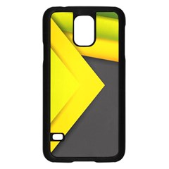 Abstraction Lines Stripes  Samsung Galaxy S5 Case (black)