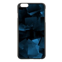 Abstraction Shapes Dark Background  Apple Iphone 6 Plus/6s Plus Black Enamel Case