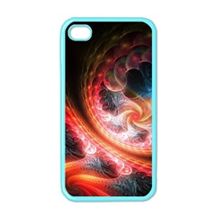Abstraction Flowering Lines Fractal  Apple Iphone 4 Case (color)