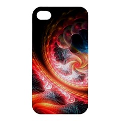 Abstraction Flowering Lines Fractal  Apple Iphone 4/4s Hardshell Case