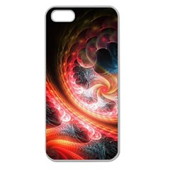 Abstraction Flowering Lines Fractal  Apple Seamless Iphone 5 Case (clear)