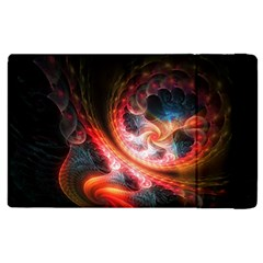 Abstraction Flowering Lines Fractal  Apple Ipad 2 Flip Case