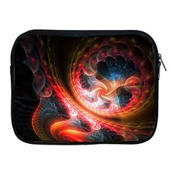 Abstraction Flowering Lines Fractal  Apple Ipad 2/3/4 Zipper Cases