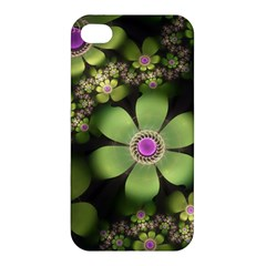 Abstraction Fractal Flowers Greens  Apple Iphone 4/4s Hardshell Case