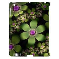 Abstraction Fractal Flowers Greens  Apple Ipad 3/4 Hardshell Case (compatible With Smart Cover)