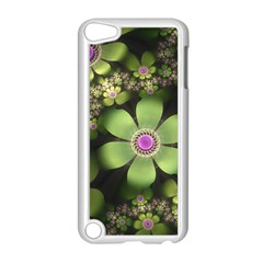Abstraction Fractal Flowers Greens  Apple Ipod Touch 5 Case (white)