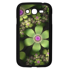 Abstraction Fractal Flowers Greens  Samsung Galaxy Grand Duos I9082 Case (black)