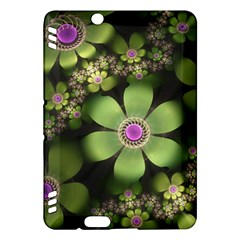 Abstraction Fractal Flowers Greens  Kindle Fire Hdx Hardshell Case