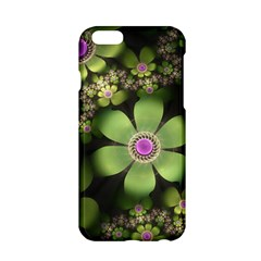 Abstraction Fractal Flowers Greens  Apple Iphone 6/6s Hardshell Case