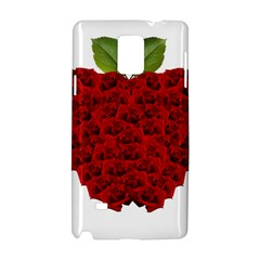 Romantic Red Rose Apple Samsung Galaxy Note 4 Hardshell Case