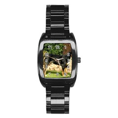 Gsmd Full Stainless Steel Barrel Watch