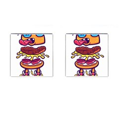 Burger Kill Cufflinks (square)