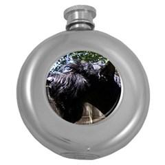 Giant Schnauzer Round Hip Flask (5 Oz)
