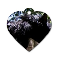 Giant Schnauzer Dog Tag Heart (one Side)