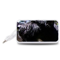 Giant Schnauzer Portable Speaker (white)