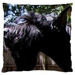 Giant Schnauzer Standard Flano Cushion Case (one Side)