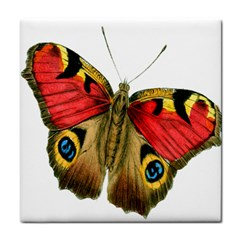 Butterfly Bright Vintage Drawing Tile Coasters