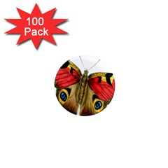 Butterfly Bright Vintage Drawing 1  Mini Magnets (100 Pack)