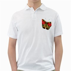 Butterfly Bright Vintage Drawing Golf Shirts