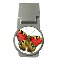 Butterfly Bright Vintage Drawing Money Clips (round)
