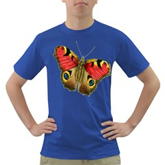 Butterfly Bright Vintage Drawing Dark T Shirt