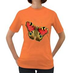 Butterfly Bright Vintage Drawing Women s Dark T Shirt