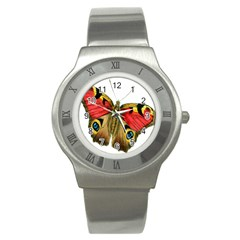 Butterfly Bright Vintage Drawing Stainless Steel Watch