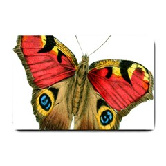 Butterfly Bright Vintage Drawing Small Doormat