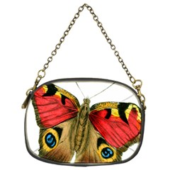 Butterfly Bright Vintage Drawing Chain Purses (two Sides)